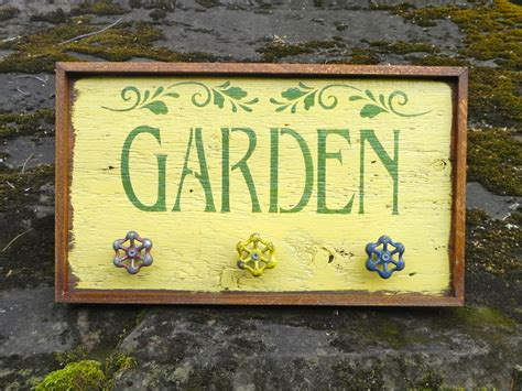 Handmade Garden Signs - garden signs and decor handmade wood sign outdoor sign