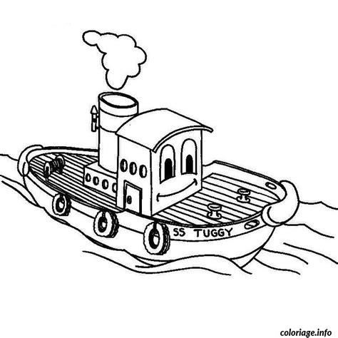 dessin bateau colorier coloriage bateau a moteur jecolorie
