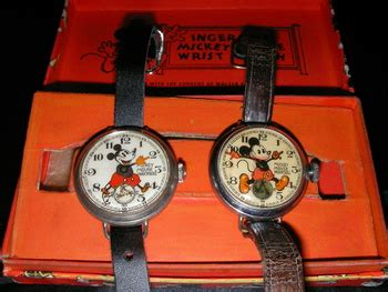 pre war english ingersoll mickey mouse wristwatches