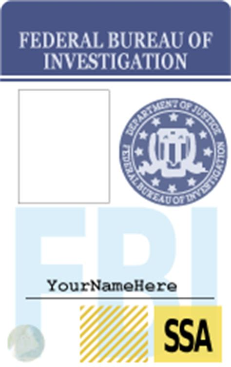 fbi id card template fbi badge template by rottenpie on deviantart