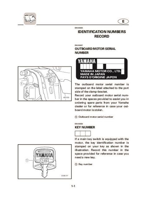 yamaha boat motor manual 2004 yamaha outboard f25c t25c boat motor owners manual
