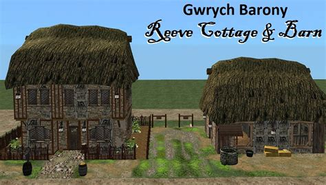 Mod The Sims Gwrych Medieval Mod The Sims Gwrych Barony Reeve Cottage