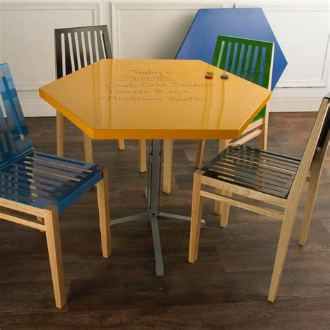 erase table 36 quot hexagon erase table top available in 2 colors