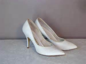50s Heels 1950s Shoes Vintage White Glamour Marilyn Leather