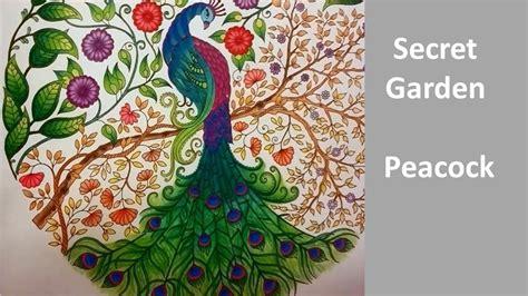 secret garden coloring book peacock peacock secret garden by johanna basford speed