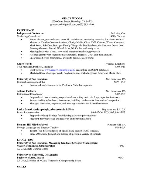 Resume Sle Basic Basic Chronological Resume Template Open 28 Images Sle Basic Resume 21 Documents In Word