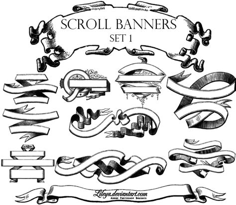 printable banner scroll pin decorative scroll banners tattoo on pinterest