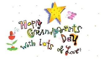 happy grandparents day with lots of greeting card