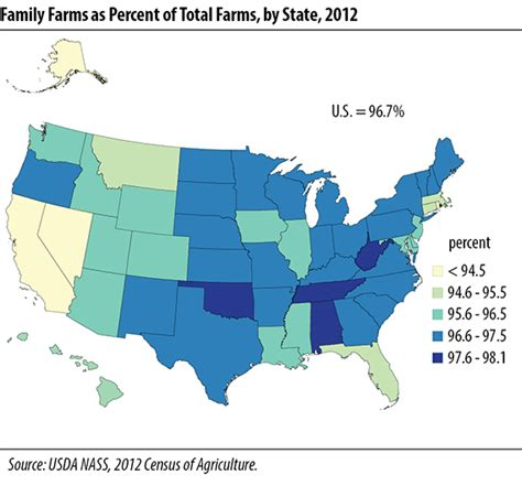 us map highlight states usda nass census of agriculture publications 2012