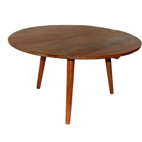 Circular Coffee Table Coffee Table In Recycled Wood