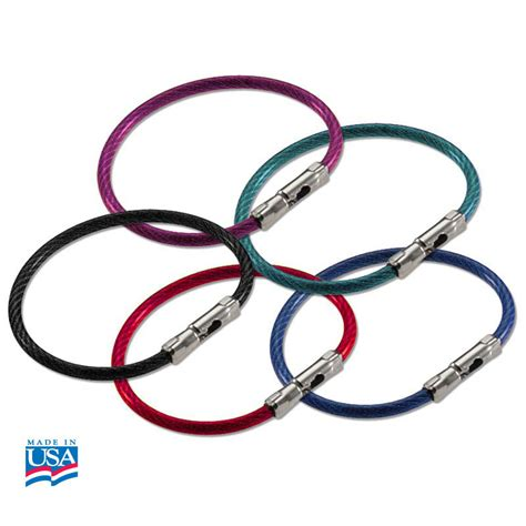 bulk by color lucky line flex o loc cable key ring bulk each by color