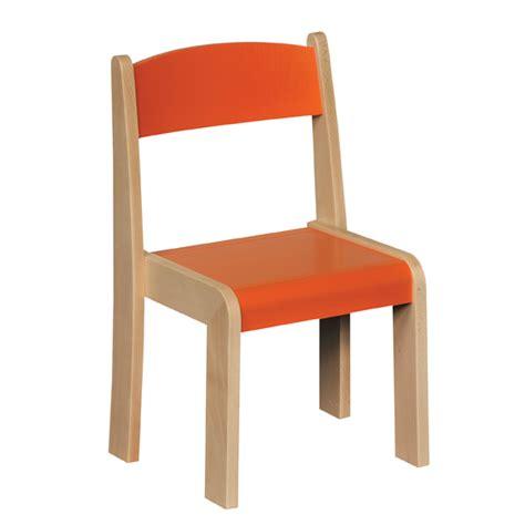 stackable chair orange h350mm profile education
