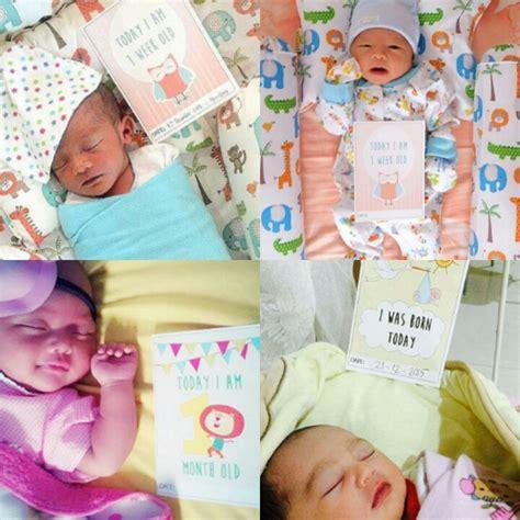 Baby Photo Cards Kartu Foto Bayi Kartu Selfie Bayi baby milestone card kartu selfie momen penting bayi ibuhamil