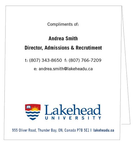 Compliment Card Template by Compliments Slip Lakehead