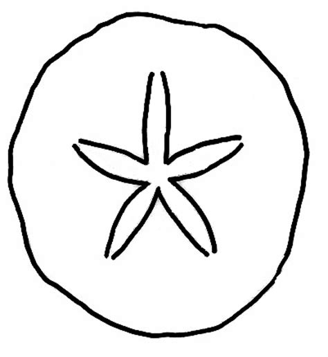 sand dollar coloring page clipart best