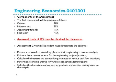 Economics Engineering 6 1 introduction to engineering economics