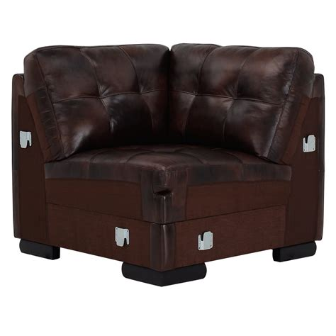 city furniture trevor dark brown leather large
