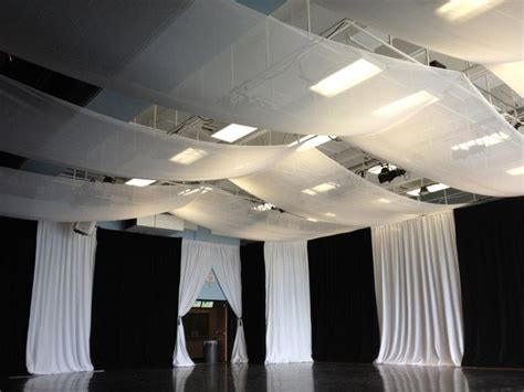 white draping black and white wedding with drape