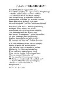 Wilfred Owen Dulce Et Decorum Est Essay by Dulce Et Decorum Est Critical Essay Plan Helpessay599 Web Fc2