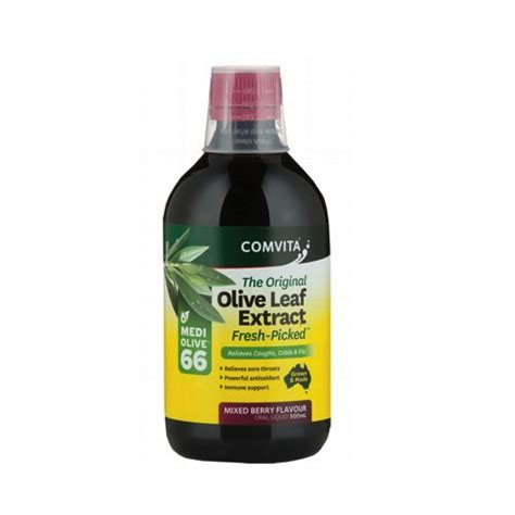 Olive Leaf Extract Detox by Comvita Olive Leaf Extract Berry 500ml