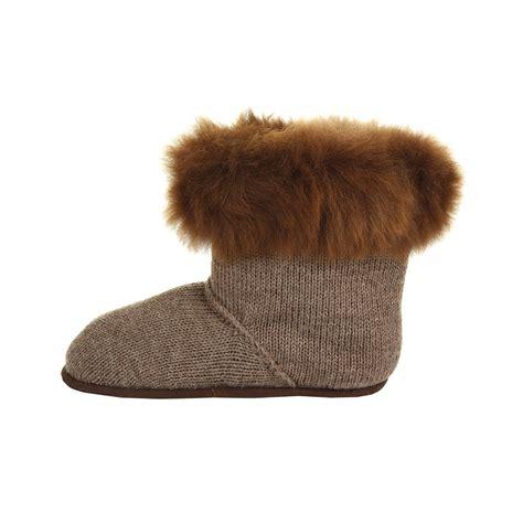 alpaca fur slippers buy alpaca fur edged slippers nutmeg m