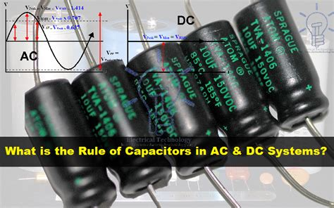 capacitor voltage ac or dc what is the of capacitor in ac and dc circuit