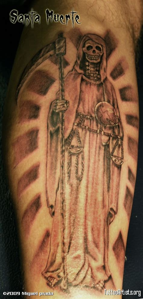 santa muerte tattoo design santa muerte tattoos various elements which can occur in