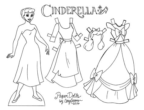 cinderella paper dolls  cory paper dolls princess