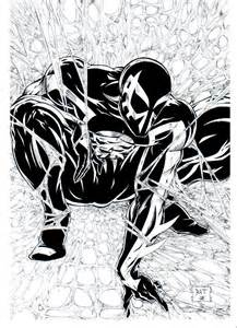 spider 2099 coloring pages bw spider 2099 inks by venom20xx on deviantart
