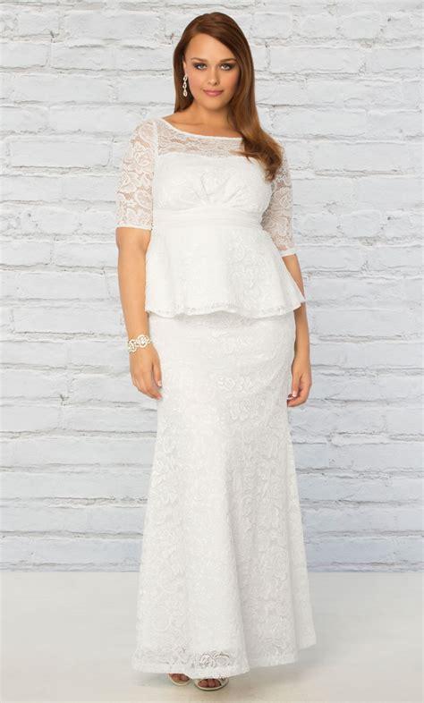 wedding hairstyle ideas for plus size plus size wedding gown poised peplum wedding gown