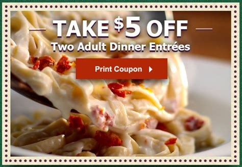 2 for 30 olive garden two new olive garden coupons save 3 at lunch 5 at dinner