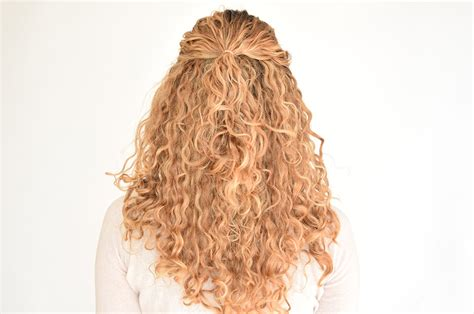 straight hair at front and curls at back how to create a pull through braid in naturally curly hair