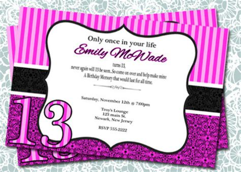 13th birthday invitations templates 13th birthday invitations wblqual