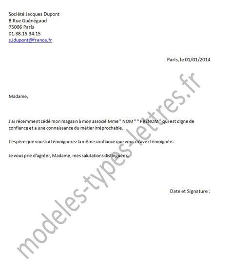 Modeles De Lettre Changement De Nom Mod 232 Le De Lettre Concernant La Cession D Un Commerce Ou D Une Soci 233 T 233