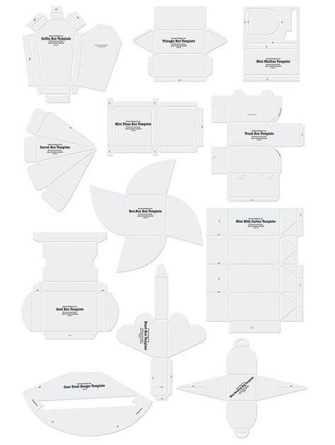 templates for clay projects free template many different envelopes and boxes