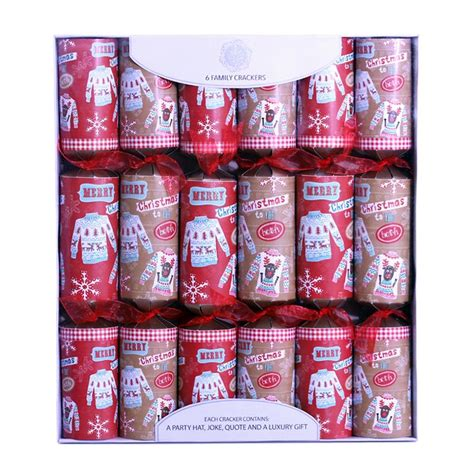 6 family christmas crackers 15 quot jumpers buy online