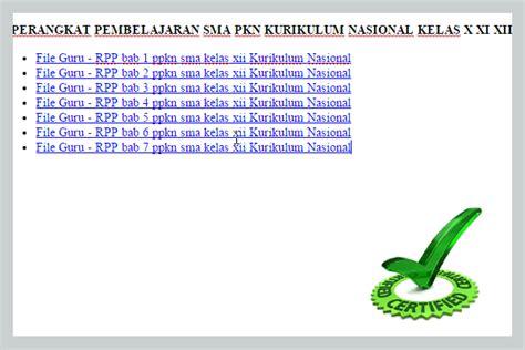 Perangkat Pembelajaran Ppkn perangkat pembelajaran sma pkn kurikulum nasional kelas x xi xii berkas administrasi guru