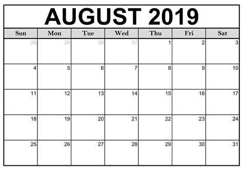 blank august calendar page printable calendar