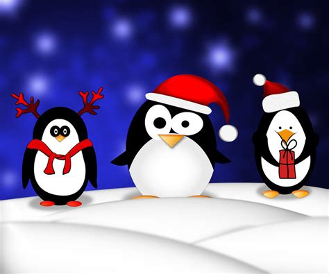 christmas penguin wallpaper wallpapersafari