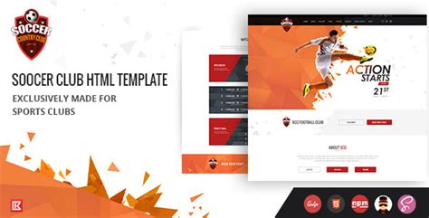 sports club template soccer club sports club html template by 0effortthemes