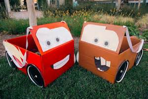 Lighting Mcqueen Car Box Diy Lightning Mcqueen Mater Box Car Costumes Skgaleana