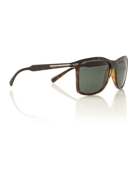 prada mens pr 10os sunglasses in brown for lyst