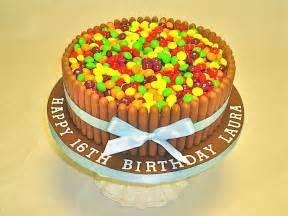 Flowers Delivery London - skittles amp fingers cake celebration cakes cakeology