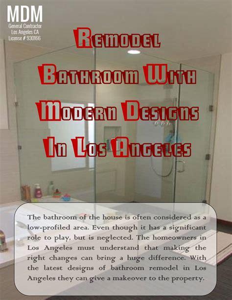 bathroom remodel los angeles remodel bathroom with modern designs in los angeles pdf