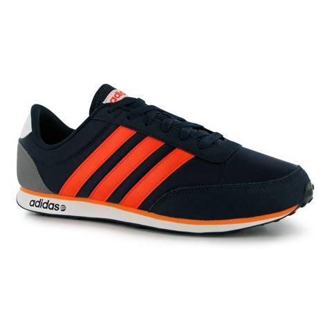 Adidas V Racer 8 adidas v racer trainers mens navy solar orange sneakers shoes ebay