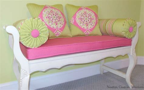 pillows for bench seating bench seat cushion and pillows newton custom interiors