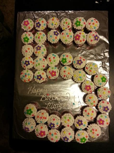 themed birthday party for 5 year old cupcake cake 5 year old girl recipes pinterest 5