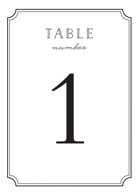 free printable table numbers 1 50 type frame table number printables by basic invite