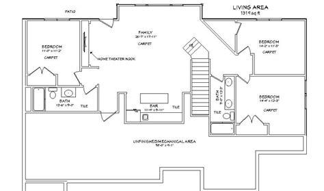 basement floor plan 3 craftsman basement finish basement floor plan basement pinterest basement