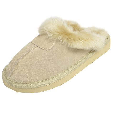 branded slippers real suede slippers ego brand mule slip on slippers